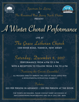 Choral Performance Flyer